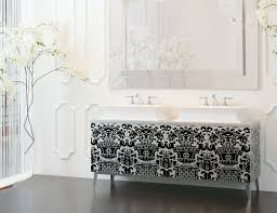 High End Bathroom Vanities by Hermitage H6 High End Italian Bathroom Furniture In Silver Leaf