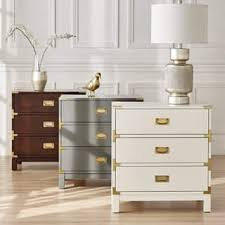 white stained bed side table with three drawer and rounded nightstands bedside tables for less overstock com