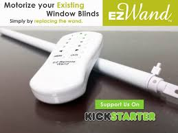 Cost Of Motorized Blinds Ez Wand Easy Wand Motorize Your Existing Window Blinds By Sia