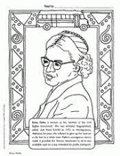 Rosa Parks Coloring Page rosa parks coloring page teachervision