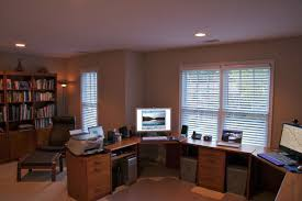 U Shaped Home Office Desk by Formidable Basement Home Office Ideas Images Design For Space