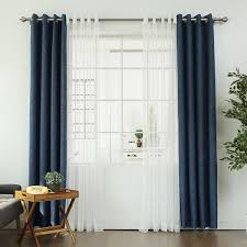 Linen Curtains With Grommets Aurora Home Mix U0026 Match Blackout With Muji Sheer 4 Piece Grommet