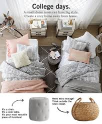 dorm room bedding pottery barn