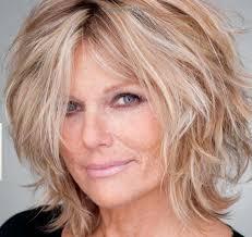 how to cut a shaggy hairstyle for older women patti hansen love the messy hair 50 hair pinterest patti