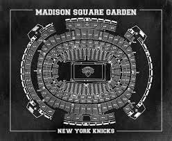 vintage print of madison square garden seating chart on premium