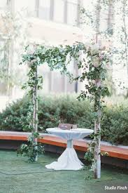 wedding arches chicago birch wedding arch sprawling vines hydrangea at greenhouse loft