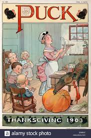 puck thanksgiving 1903 illustration shows a in a kitchen