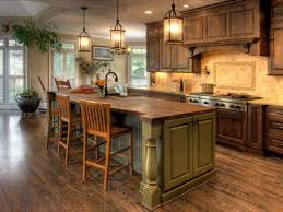 attractive rustic country kitchen decor gas stove cabinets black