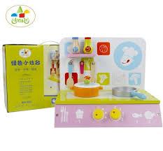 jeu cuisine enfant kid de marque jouets de cuisine en bois avec banc cuisson et pot