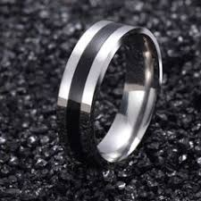 Lord Of The Rings Wedding Band by Seadog 150128 11 16 Inch Diameter Locking Asymmetrical Snap And
