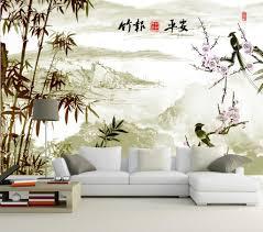 papier peint chinois paysage avec les bambous et les oiseaux papier peint chinois paysage avec les bambous et les oiseaux