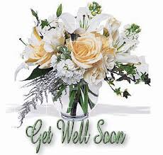 get well soon flowers get well soon white flowers