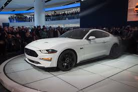 how much is a mustang gt days after unveil of 2018 mustang ford shows convertible