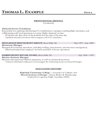 Sample Resume Of Flight Attendant by Index Of Samples