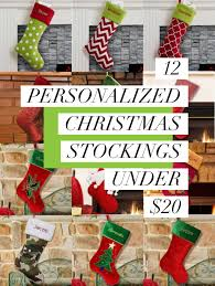 12 personalized christmas stockings under 20