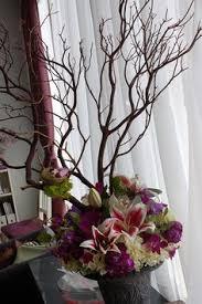 Tree Branch Centerpiece by Tree Branch Centerpieces Purchased Manzanita Branches Then Spray