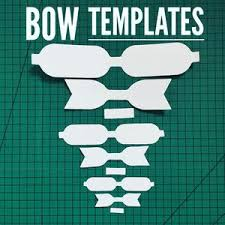 hair bow templates hair bow template 3 sizes per pack fabridasher