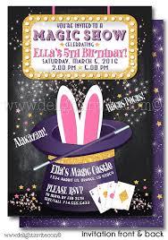 magic party magician birthday invitations di 636fc harrison