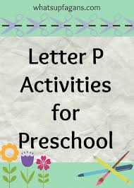 58 best preschool letter p images on pinterest preschool letters