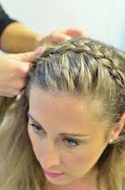 hair braid across back of head braid tutorial