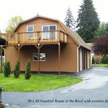 Gambrel Style Roof Pacific Garages Everett Snohomish And King County Garage Builders