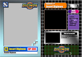 digimon trading card base template by ikacte on deviantart