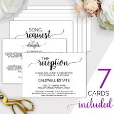 Wedding Registry Cards For Invitations 7 Printable Wedding Enclosure Cards Wedding Details Card