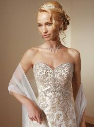 allover lace wedding gown rhinestone wedding gown