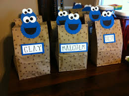 cookie monster goody bags baby shower gift bags pinterest