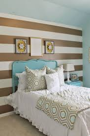 bedroom decor black and white horizontal stripes taping for