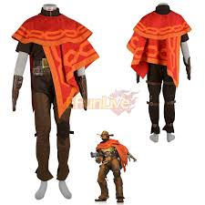 ow overwatch hunter jesse mccree costume halloween cosplay costume