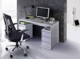 white high gloss desk daniele computer desk in white high gloss with storage ebay