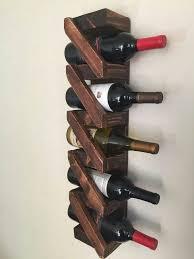 rustic wooden wine rack handmade home decor aged wood bar
