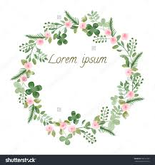 Floral Invitation Card Designs Watercolor Leaf And Flowers Round Frame Vector Illustration Of