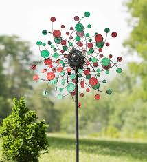wind spinners with led lights 99 95 solar red and green dots spinner metal white led lights