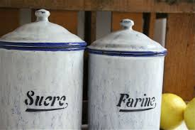art deco french canister set bayside vintage vintage art deco antique enamel blue white french kitchen canister set