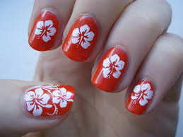 nail art flower designs hibiscus flowers nails designs beauty