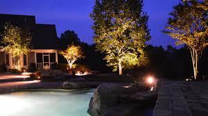 all lit up landscape lighting in knoxville tenn carex design