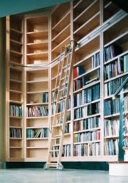 furniture alluring library bookshelf with ladder to keep your