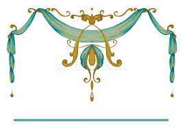 Drapery Art The Royal Golden Ornate Frame Style Stock Vector Image 64732946