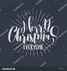 merry everyone lettering wish stock vector