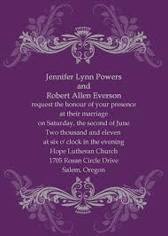 purple wedding invitations vintage purple damask custom wedding invitation cards ewi047 as