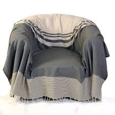 jeté de canapé taupe de canapé et de fauteuil tanger taupe fouta futée