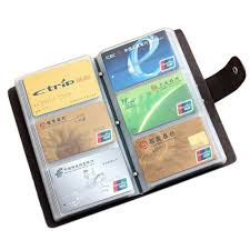 boshiho leather credit card holder business id card