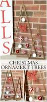 christmas ornament trees little red brick house
