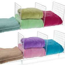 Rubbermaid Fasttrack Closet Evelots Set Of 8 Closet Shelf Dividers For Wire Shelving Wire