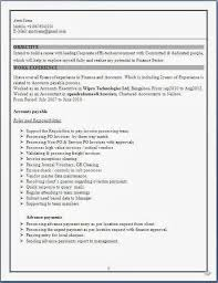 Fresher Accountant Resume Sample by Finance Resume Format