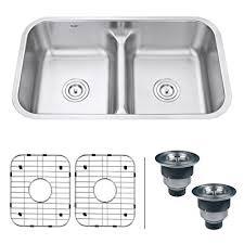 low divide drop in kitchen sink ruvati rvm4350 undermount 32 low divide 16 gauge kitchen sink