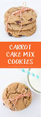 thanksgiving chocolate chip cookies easy carrot cake mix cookies yellow bliss road