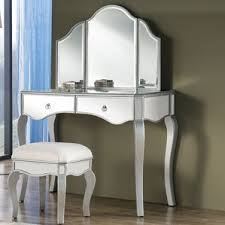 Mirrored Vanity Set Silver Bedroom U0026 Makeup Vanities You U0027ll Love Wayfair
